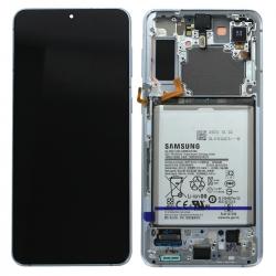 Bloc écran Dynamic Amoled 2X pré-monté sur châssis pour Samsung Galaxy S21+ Phantom Silver_photo1