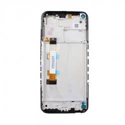 Bloc écran IPS LCD et vitre pré-montés sur châssis pour Xiaomi Redmi Note 9T Noir