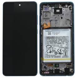 Bloc écran pré-monté sur châssis + batterie pour Samsung Galaxy A52 & A52 (5G) Bleu_photo1