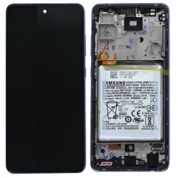 Bloc écran pré-monté sur châssis + batterie pour Samsung Galaxy A52 & A52 (5G) Violet_photo1