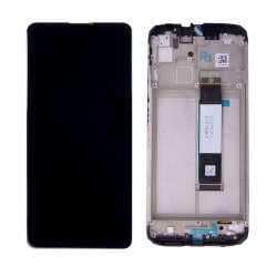 Bloc écran IPS LCD et vitre pré-montés sur châssis pour Xiaomi Redmi 9T Noir