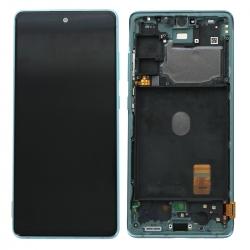 Bloc écran Super AMOLED pré-monté sur châssis pour Samsung Galaxy S20 FE Vert_photo1