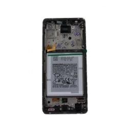 Bloc écran pré-monté sur châssis + batterie pour Samsung Galaxy A52 & A52 (5G) Blanc photo 2