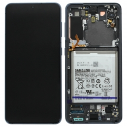 Bloc écran Dynamic Amoled 2X pré-monté sur châssis pour Samsung Galaxy S21 Phantom Gray_photo1