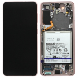Bloc écran Dynamic Amoled 2X pré-monté sur châssis pour Samsung Galaxy S21 Phantom Violet_photo1