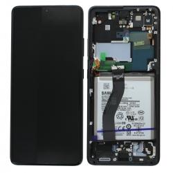Bloc écran pré-monté sur châssis avec batterie pour Samsung Galaxy S21 Ultra Phantom Black_photo1