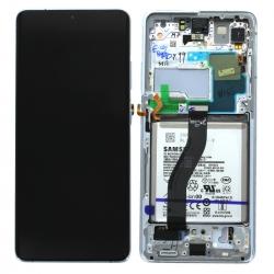 Bloc écran pré-monté sur châssis avec batterie pour Samsung Galaxy S21 Ultra Phantom Silver_photo1
