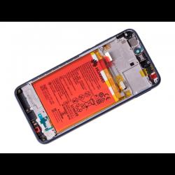 Écran Bleu COMPLET prémonté sur châssis avec batterie pour Huawei P8 Lite 2017 photo 1