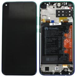 Bloc écran IPS LCD complet pré-monté sur châssis + batterie pour Huawei P40 lite E Bleu Aurore_photo1