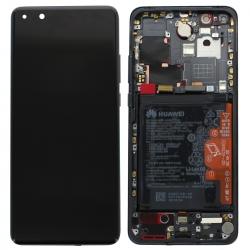 Bloc écran OLED complet pré-monté sur châssis + batterie pour Huawei P40 Pro Noir_photo1