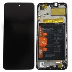 Bloc écran IPS LCD complet pré-monté sur châssis + batterie pour Huawei P smart 2021 Noir_photo1