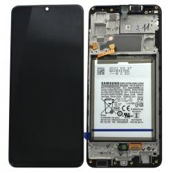 Bloc écran Super AMOLED pré-monté sur châssis + batterie pour Samsung Galaxy A32_photo1