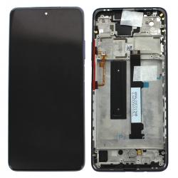 Bloc écran LCD et vitre pré-montés sur châssis pour Xiaomi Mi 10T Lite Bleu_photo1