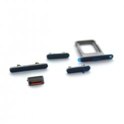 Lot de 4 boutons latéraux + rack SIM pour iPhone 12 Pro Max Bleu Pacifique_photo1