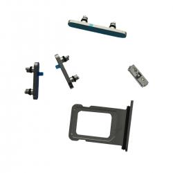 Lot de 4 boutons latéraux + rack SIM pour iPhone 12 Pro Max Argent_photo1