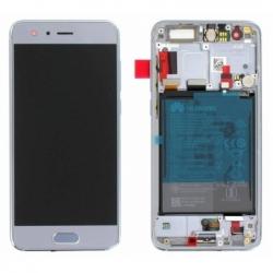 Bloc écran OLED complet pré-monté sur châssis + batterie pour Huawei Honor 9 - Bleu photo 0