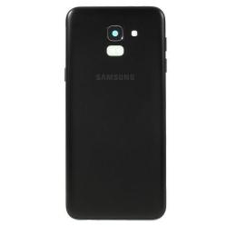 Vitre arrière d'origine pour Samsung Galaxy J6 2018 - Noir photo 0