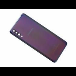 Vitre arrière originale d'occasion avec lentille de caméras  pour Samsung Galaxy A70 - Noir photo 0