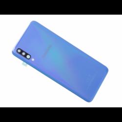 Vitre arrière originale d'occasion avec lentille de caméras pour Samsung Galaxy A70 - Bleu photo 0