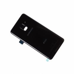 Vitre arrière originale d'occasion de Samsung Galaxy A8 2018 - Noir photo 0