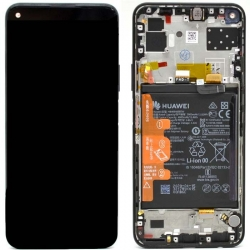 Bloc écran IPS LCD complet pré-monté sur châssis + batterie pour Huawei P40 lite 5G Noir photo 1