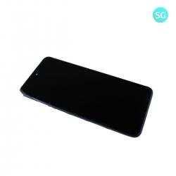 Bloc écran IPS LCD et vitre pré-montés sur châssis pour Xiaomi Redmi Note 10 5G Noir_photo1