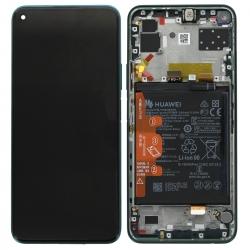 Bloc écran IPS LCD complet pré-monté sur châssis + batterie pour Huawei P40 lite 5G Vert_photo1