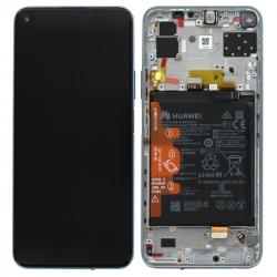 Bloc écran IPS LCD complet pré-monté sur châssis + batterie pour Huawei P40 lite 5G Argent_photo1