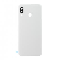 Vitre arrière compatible Samsung Galaxy A30 Blanc photo 1