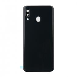 Vitre arrière compatible Samsung Galaxy A30 Noir photo 1