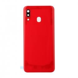 Vitre arrière compatible Samsung Galaxy A30 Rouge photo 1