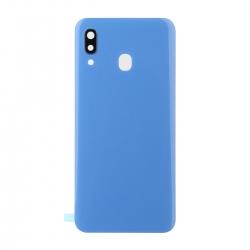 Vitre arrière compatible Samsung Galaxy A30 Bleu photo 1