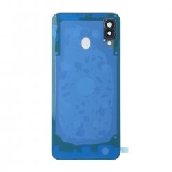 Vitre arrière compatible Samsung Galaxy A30 Bleu photo 2
