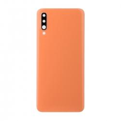 Vitre arrière compatible Samsung Galaxy A70 Orange photo 1