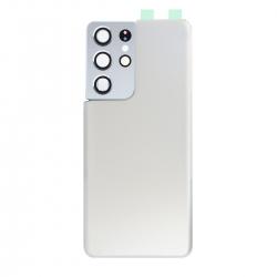 Vitre arrière compatible Samsung Galaxy S21 Ultra Argent photo 1