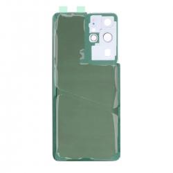 Vitre arrière compatible Samsung Galaxy S21 Ultra Argent photo 2