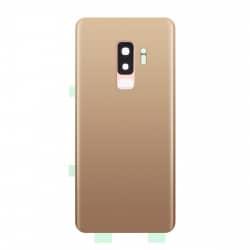 Vitre arrière compatible Samsung Galaxy S9+ Or photo 1