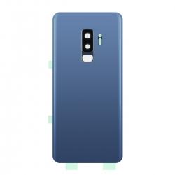 Vitre arrière compatible Samsung Galaxy S9+ Bleu photo 1