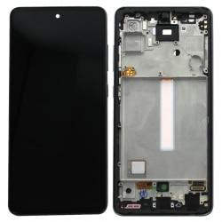Bloc écran pré-monté sur châssis pour Samsung Galaxy A52 & A52 (5G) Noir_photo1