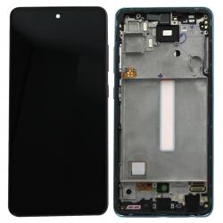 Bloc écran pré-monté sur châssis pour Samsung Galaxy A52 & A52 (5G) Bleu_photo1