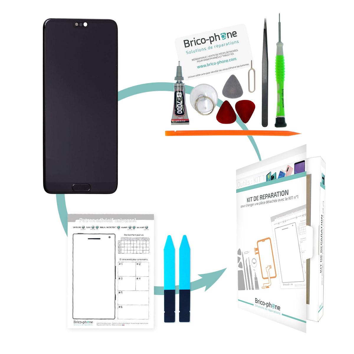Kit de réparation Ecran complet d'origine Huawei P20