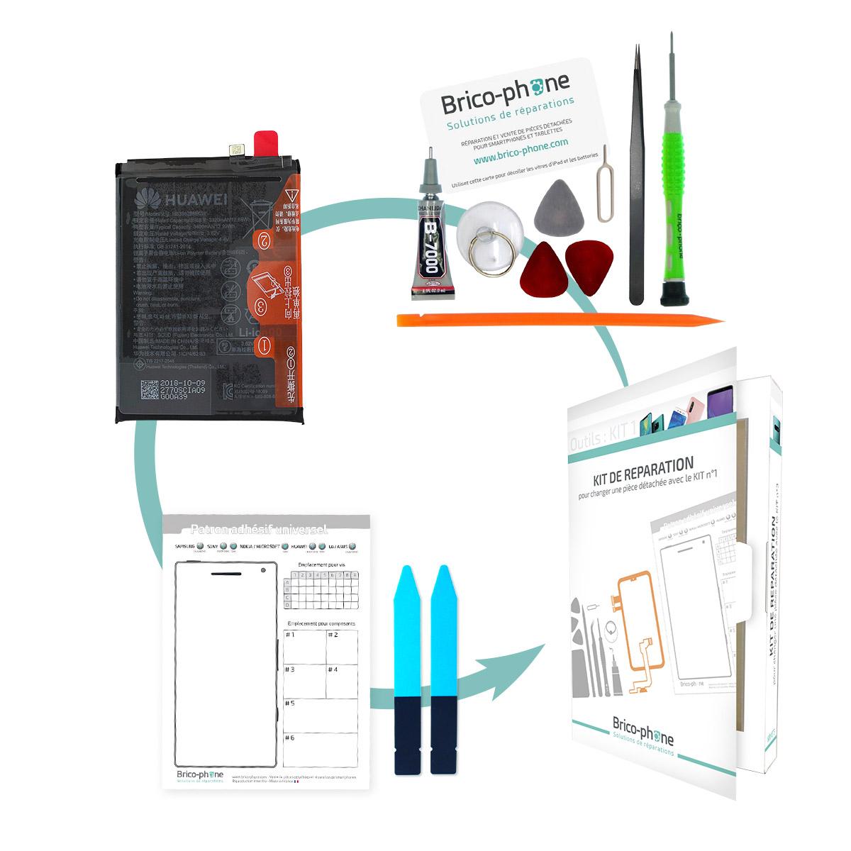 Kit pour remplacer la batterie Huawei P Smart 2019 et Honor 10 Lite