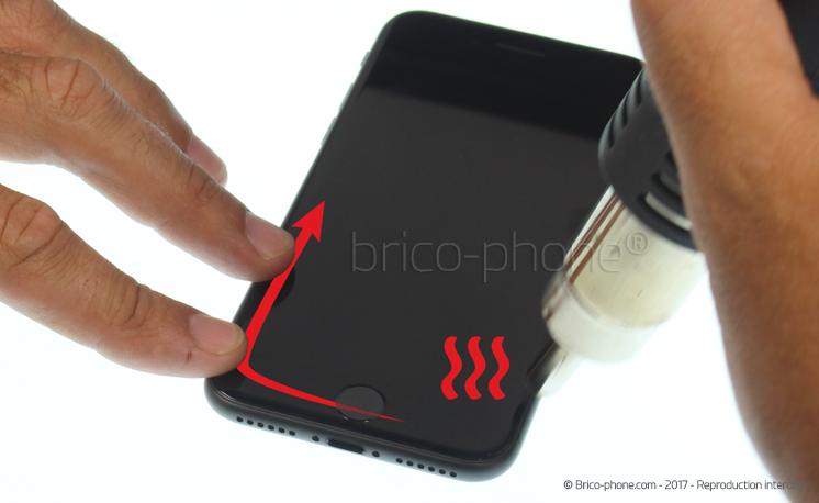 Etape 3 : Créer un interstice entre l'écran et le châssis