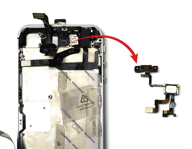 Etape 10d : Retirer la nappe du bouton Power