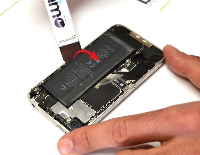 Etape 2e : Retirer la batterie