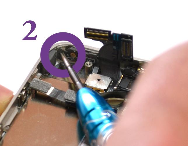Etape 11c : Retirer le bloc vitre + écran LCD