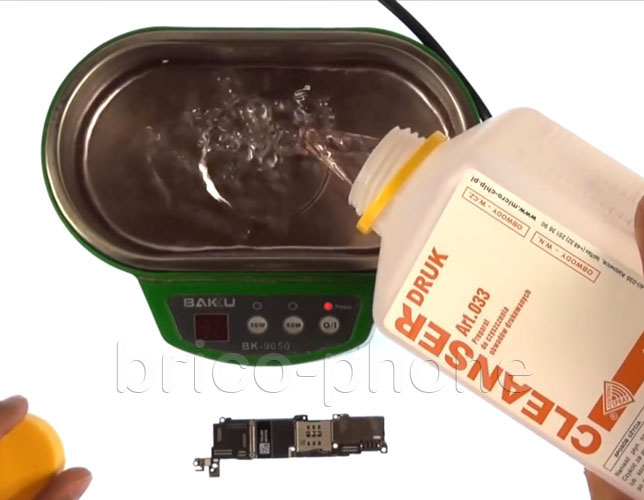 Etape 10a : Utiliser un bac pour bains à ultrasons