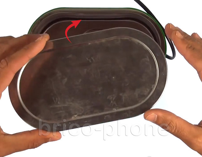 Etape 10c : Utiliser un bac pour bains à ultrasons