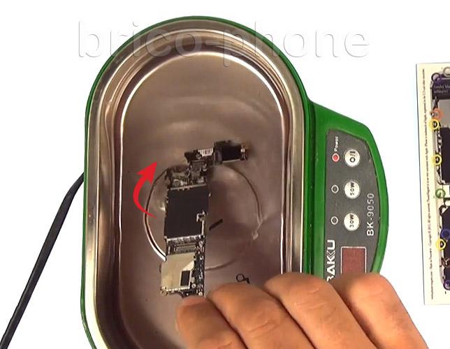 Etape 10b : Utiliser un bac pour bains à ultrasons