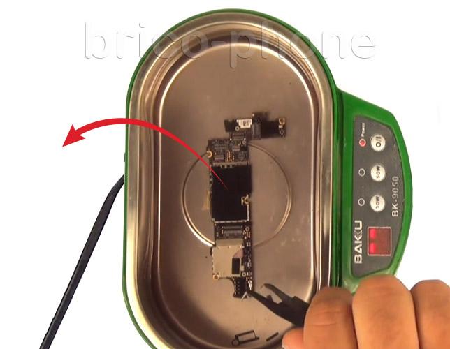 Etape 10e : Utiliser un bac pour bains à ultrasons
